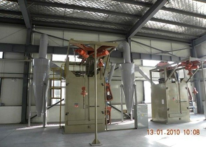 Double Hooks Hanger Type Shot Blasting Machine For Alloy Wheels ISO9001