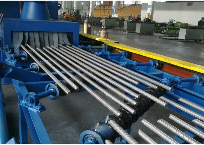 Electric Roller Conveyor Shot Blasting Machine Continuous Through Type