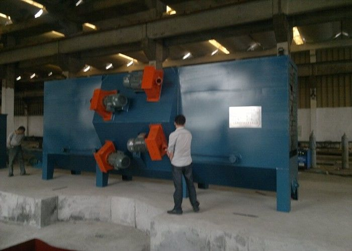 Steel Bars Roller Conveyor Shot Blasting Machine Electric Descaling Rust