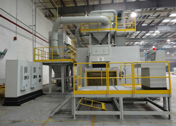 Continuous Feeding Wire Mesh Belt Shot Blasting Machine Rust Removal 97.5KW Power